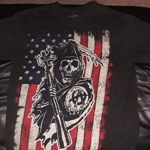 Road Gear Sons of Anarchy black tee sz. Sm.